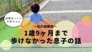 赤ちゃんの成長が遅い・・1歳9ヶ月まで歩けなかった息子の話~私の経験談~